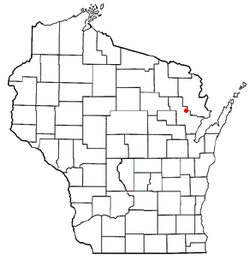 Location of Brazeau, Wisconsin