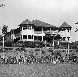 Olaf Frederick Nelson - Nelson residence in Tuaefu, around 1936
