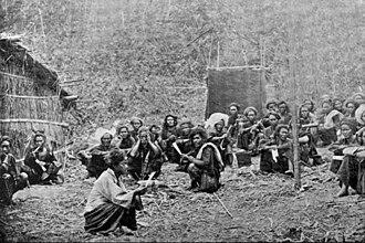 Wa people - Wa headmen in British Burma.