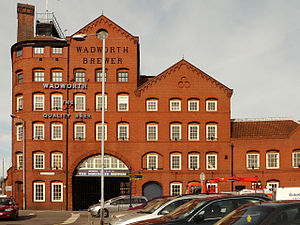 Wadworth Brewery - Wadworth's Brewery front facade, Devizes