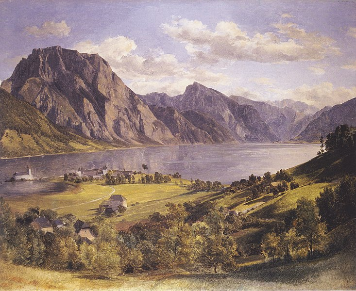 File:Waldmüller - Traunsee mit Schloss Orth.jpeg