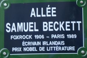 Samuel Beckett - Samuel Beckett Walk, Paris (France)