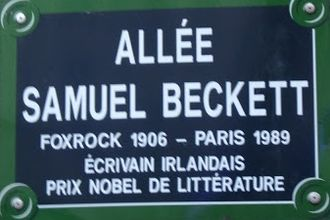French literature - Samuel Beckett Walk, Paris (France). Nobel Prize 1969.