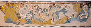 Monkeys gathering papyrus