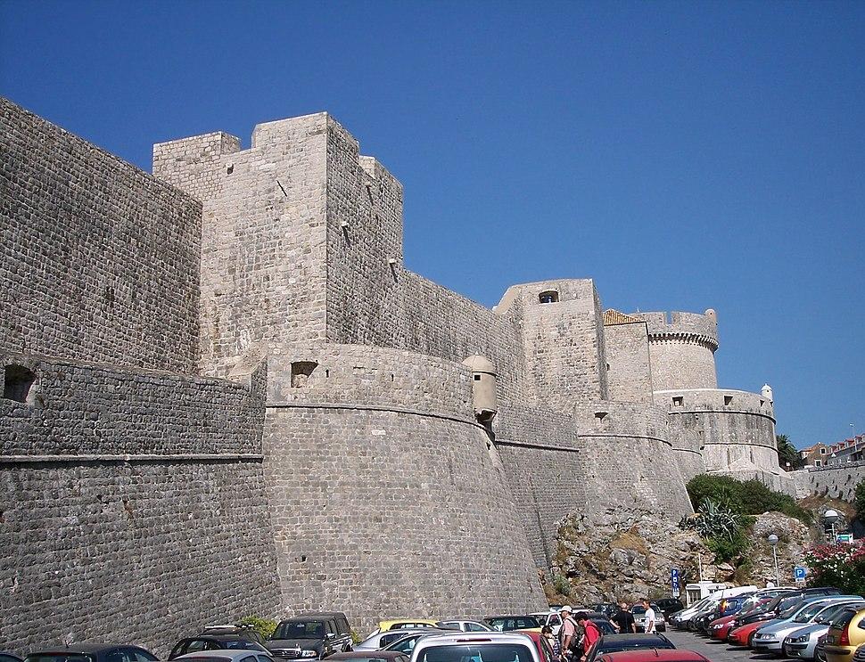 The walls of Dubrovnik, Croatia