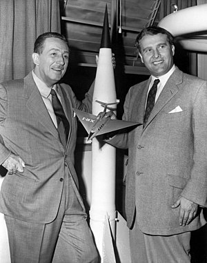 The Mars Project - Walt Disney (left) and Wernher von Braun in 1954.
