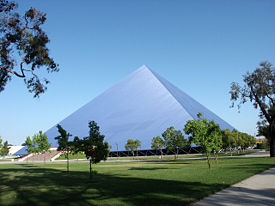 The Walter Pyramid, the University's most prominent sporting complex and most recognizable landmark.