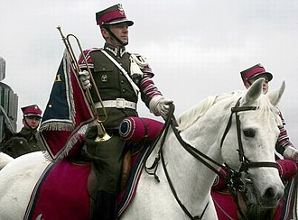 Cavalry - A trumpeter of the Representative Squadron of Cavalry of the Polish Army.