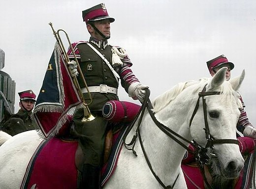 A trumpeter of the Representative Cavalry Squadron in the Polish Army. Warsaw Swieto Niepodleglosci (2007)2.jpg