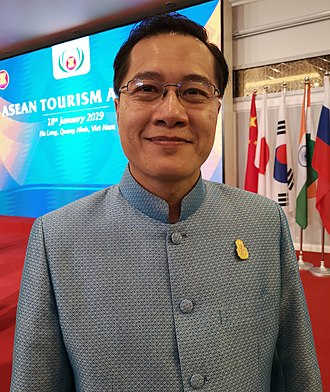 Ministry of Tourism and Sports (Thailand) - Weerasak Kowsurat, Minister of Tourism and Sports of the Kingdom of Thailand at the ASEAN Tourism Forum 2019 in Ha Long Bay, Viet Nam; organised by TTG Events, Singapore