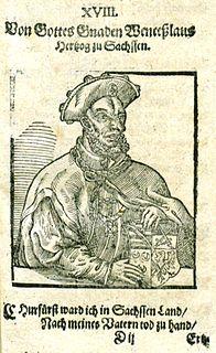 Wenceslaus I, Duke of Saxe-Wittenberg Duke of Saxe-Wittenberg