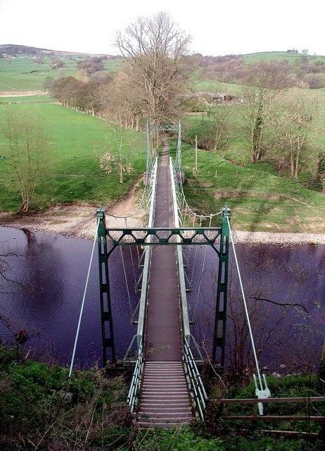 West Hall Suspension Bridge, Addingham - geograph.org.uk - 425417