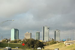 Partial view of the downtown skyline