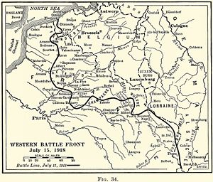 Third Battle of the Aisne - The Western Front, July 1918