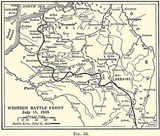 battle of the German Spring Offensive during World War I