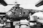 Westland Whirlwind on USS Newport News (CA-148) in 1966.jpg