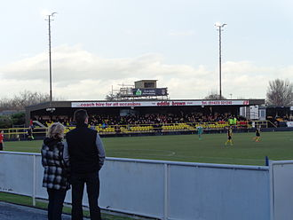 Harrogate Town F.C. - Wetherby Road during a match against Bradford Park Avenue in January 2014.