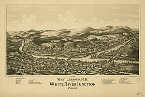 White River Junction, Vermont -  White River Junction in 1889