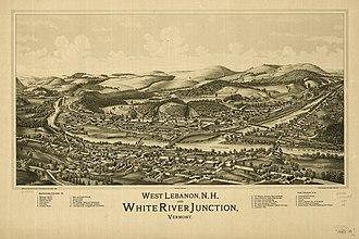 White River Junction, Vermont - White River Junction in 1889