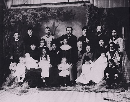 German immigrant Hermann A. Widemann had a large family with his Hawaiian wife Mary Kaumana, 1886 Widemann1886Family1.jpg