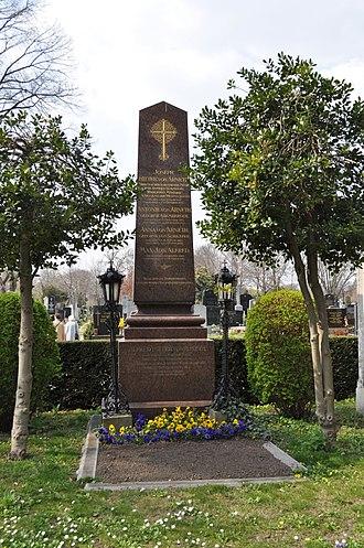 Alfred von Arneth - Gravesite at the Hauptfriedhof in Vienna