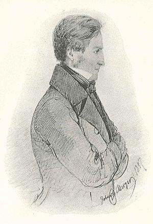 Peter Wieselgren - Peter Wieselgren drawn by Johan Christian Berger in 1847.