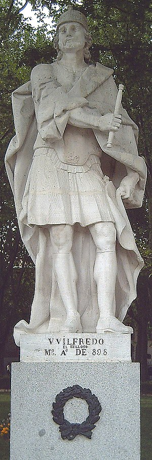 Wilfred the Hairy - Statue in Madrid, L. S. Carmona, 1750–53