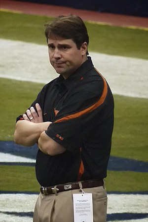English: Will Muschamp as the defensive coordi...