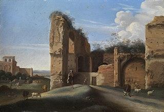 Roman ruins landscape