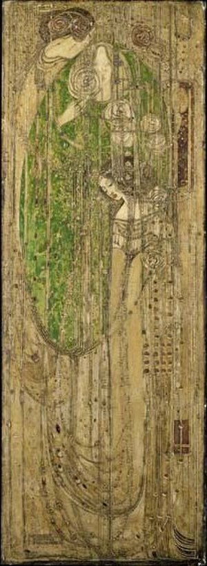 Willow Tearooms - Margaret MacDonald's famous gesso panel O ye, all ye that walk in Willowood.