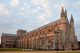Winchester Cathedral Church in Hampshire, United Kingdom