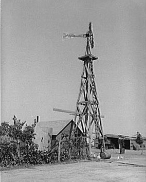 Sheridan County, Kansas - Windmill, Sheridan County, Kansas, 1939. Farm Security Administration photo by Russell Lee.