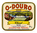 Wine label Gonsalves Winery O-Douro California Claret Wine.jpg