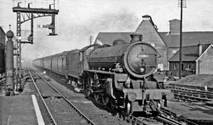 Witham railway station - A Cromer to London Liverpool Street express train at Witham in 1951