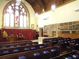 Woking Crematorium - The interior of the chapel