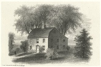 Windsor, Connecticut - The Wolcott House, Windsor, early drawing