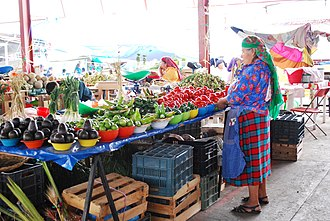 Tlacolula de Matamoros - Indigenous woman selling at the municipal market