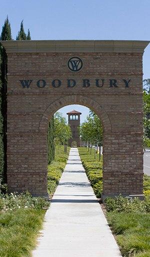 Woodbury, Irvine, California - Entrance to Woodbury