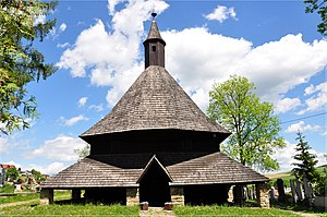 History of architecture - All Saints Roman Catholic wooden church in Tvrdošín, Slovakia