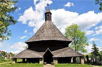 History of architecture - All Saints Roman Catholic wooden church in Tvrdošín, Slovakia