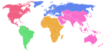 World Map FIVB