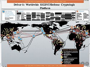 Stateroom (surveillance program) - Image: Worldwide NSA signals intelligence