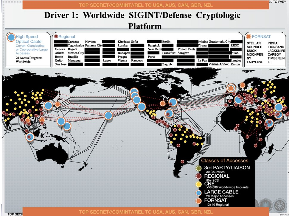 Worldwide NSA signals intelligence
