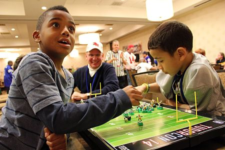 Electric Football is enjoyed by football enthusiasts from young to old!
