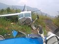 Written off Northeast Shuttle flight at lengpui airport.jpg