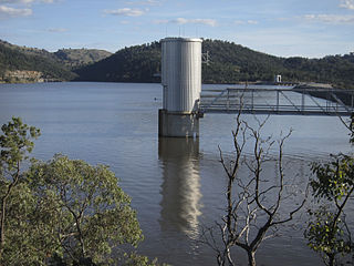 Wyangala Dam dam on the Lachlan River, New South Wales