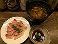Yellowtail in shabu-shabu style (32074143000).jpg