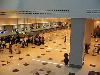 Yangon International Airport - The check in desks in Terminal 2
