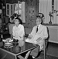 Yitzhak Ben Zvi, de tweede president van Israel van 1952 tot 1963, en zijn echtg, Bestanddeelnr 255-4234.jpg