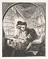 Young Man Writing and Reading from Large Volume at His Left MET DP808614.jpg
